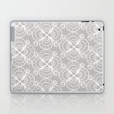 Silver grey lacey floral Laptop & iPad Skin