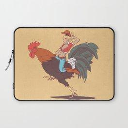 Girl Riding a Cock Laptop Sleeve