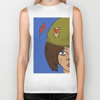 army Biker Tanks featuring Army Girl by ConnorEden