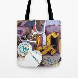 Broken Down Signs, Lights, and Colours in Las Vegas Tote Bag