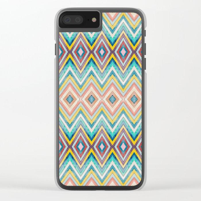 Geometric Color Fun Clear iPhone Case