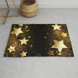 Background with golden stars Rug