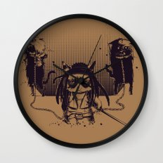 Walking grump Wall Clock