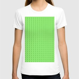 Lime Green Retro Squares T-shirt
