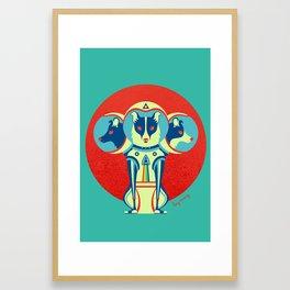 Spacedogs Framed Art Print