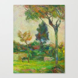 "Paul Gauguin ""Deux vaches au pré (Two Cows in the Meadow)"" Canvas Print"