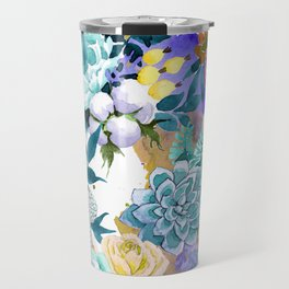 Floral Patterns in Contemporary Designs and Colors Travel Mug