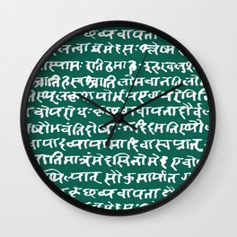 Sanskrit // Jewel Wall Clock