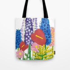 Delphiniums & Anthuriums Tote Bag