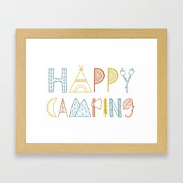Happy Camping Fall Framed Art Print