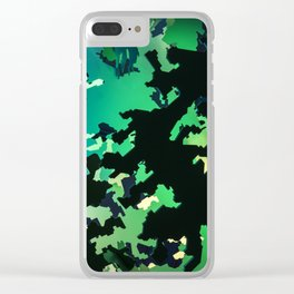 Camouflage Jungle Clear iPhone Case