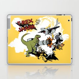T-Rex VS Shark  Laptop & iPad Skin