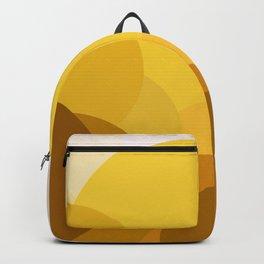 Golden Circle Sunrise, Abstract Landscape Pattern Design Backpack