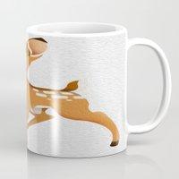 bambi Mugs featuring Bambi by MandiMccl