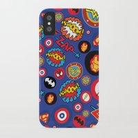 super hero iPhone & iPod Cases featuring Movie Super Hero logos by Nick's Emporium Gallery