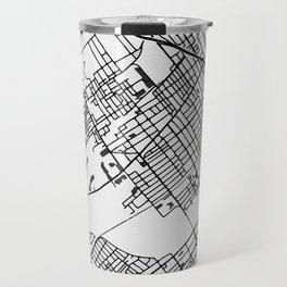 Wilkes-Barre Pennsylvania Map Travel Mug