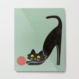Fitz - the curious cat Metal Print