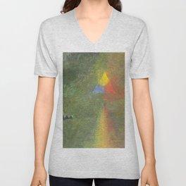 Les Origines, Rainbow and Pyramids landscape by Paul Serusier Unisex V-Neck
