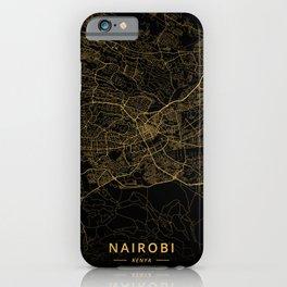 Nairobi, Kenya - Gold iPhone Case