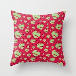 Retro Hearts - design by Jezli Pacheco Throw Pillow