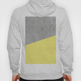 Concrete and Yellow Color Hoody