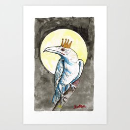 The Raven King by Mary Bottom Art Print