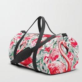 Flamingos and Flowers Duffle Bag