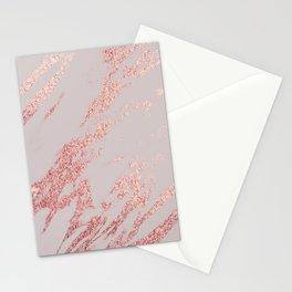 Porcelain grey rose gold Stationery Cards