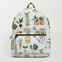 Botanical Gardening Pattern Pots And Plants Backpack