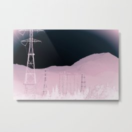 Lost Electric Highway Metal Print