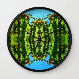 Raindrop Cacti Reflections Wall Clock