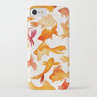 goldfish iPhone & iPod Cases featuring Goldfish by Cat Coquillette