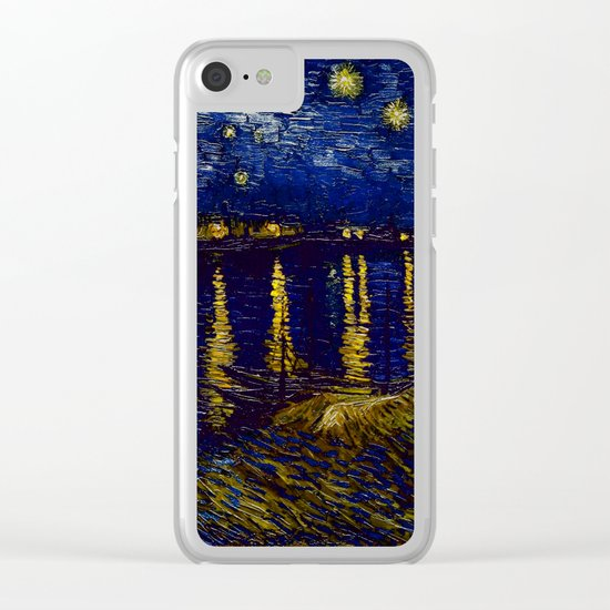 Vincent Van Gogh Starry Night Over The Rhone Clear iPhone Case