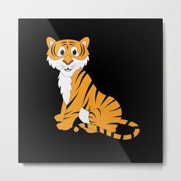 Tiger Baby Metal Print