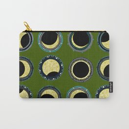 solar eclipse mandala green Carry-All Pouch