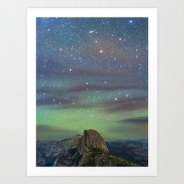 Andromeda over Half Dome Art Print