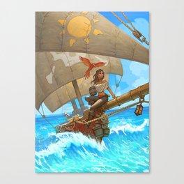 Rum Runners of the Ocean Blue Canvas Print