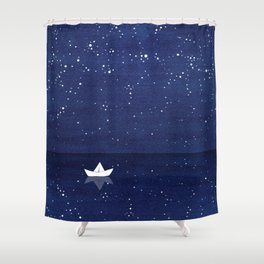 Zen Sailing, Ocean, Stars Shower Curtain