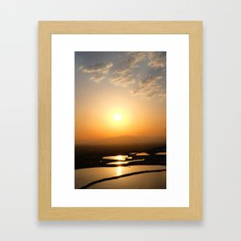 Sunset in Pamukkale Framed Art Print
