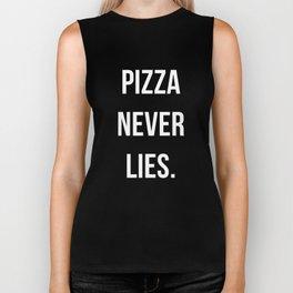 PIZZA NEVER LIES Biker Tank