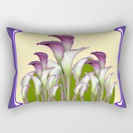 ART NOUVEAU CALLA LILIES PURPLE MODERN ART DESIGN Rectangular Pillow