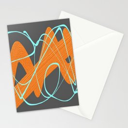 Grey orange and blue Stationery Cards