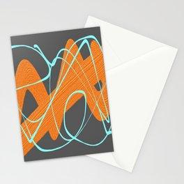 Grey orange and blue Stationery Cards