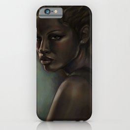Digital art portrait painting of women. portrait painting. painting shipped and framed. portrait of women  iPhone Case
