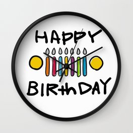 Jeep 'HAPPY BIRthDAY' White Wall Clock