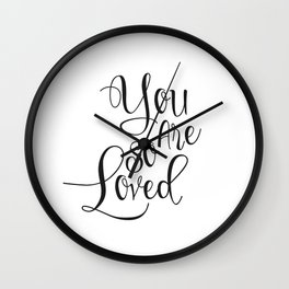 Nursery Quote You Are So Loved Quote Funny Wall Art Kids Room Art Nursery Printable Nursery Quote Wall Clock