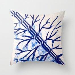 Growth blue Throw Pillow