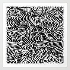 black flow Art Print