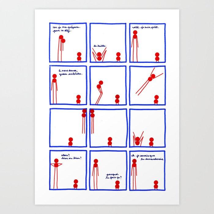 Le plus grand et le plus petit et le défi - page 3/4 Art Print
