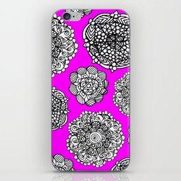 Fushia mandala maze  iPhone Skin